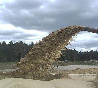 Речной строительный песок купить в Воскресенске с доставкой