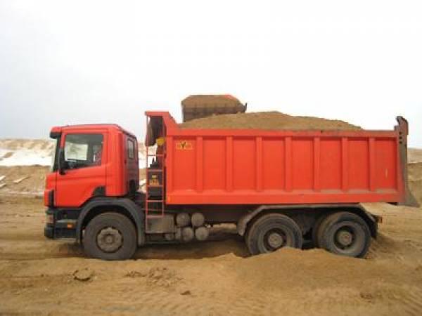 песок, цена за 1 м3 с доставкой